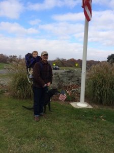 My favorite veteran at Veteran's Park in Westborough on Veteran's Day.